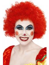 Clown Wig In Red